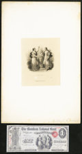 Miscellaneous:ZZZ, Vignette Cards Found On National Bank Notes. . ... (Total: 6 items)