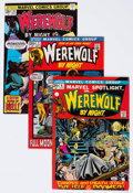 Bronze Age (1970-1979):Horror, Werewolf by Night Group of 13 (Marvel, 1972-76) Condition: AverageNM-.... (Total: 13 Comic Books)