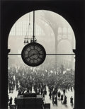 Photographs, Alfred Eisenstaedt (American, 1898-1995). Clock at Pennsylvania Station, New York, 1943. Gelatin silver, 1989. 16-7/8 x ...