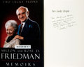 Books:Biography & Memoir, Milton & Rose D. Friedman. INSCRIBED. Two Lucky People;Memoirs. Chicago & London: University of Chicago Press,[199...