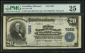 National Bank Notes:Missouri, Versailles, MO - $20 1902 Plain Back Fr. 650 The First NB Ch. #(M)7256. ...