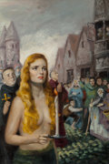 Pulp, Pulp-like, Digests, and Paperback Art, Julian Paul (American, b. 1921). The King's Mistress, paperbackcover, 1952. Oil on board. 19 x 12.5 in.. Not signed. ...(Total: 2 Items)