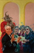 Mainstream Illustration, Richard Bober (American, b. 1943). Alfred Hitchcock Presents:Scream Along With Me, paperback cover, 1967. Mixed media o...