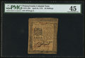 Colonial Notes:Pennsylvania, Pennsylvania April 25, 1776 20s PMG Choice Extremely Fine 45.. ...