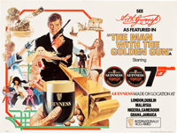 """The Man with the Golden Gun Guinness Ale Poster (United Artists, 1974). Advertising Poster (15"""" X 20""""). James..."""