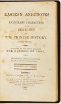 Books:Children's Books, [China]. Eastern Anecdotes of Exemplary Characters, withSketches of the Chinese History. London: Printed by Sampson...