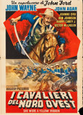 "Movie Posters:Western, She Wore a Yellow Ribbon (Argosy, R-1961). Italian 2 - Fogli (39"" X55"").. ..."