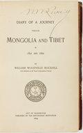 Books:Travels & Voyages, William Woodville Rockhill. SIGNED. Diary of a Journey Through Mongolia and Tibet in 1891 and 1892. Washington, D.C....