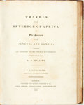 Books:Travels & Voyages, [Africa]. G. Mollien. T.E. Bowdich, editor. Travels in theInterior of Africa, to the Sources of the Senegal andGambia;...