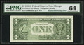 Error Notes:Inking Errors, Fr. 1916-G* $1 1988A Federal Reserve Star Note. PMG Choice Uncirculated 64.. ...