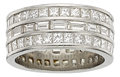 Estate Jewelry:Rings, Diamond, Platinum Eternity Band. ...