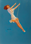 Pin-up and Glamour Art, Vaughan Alden Bass (American, 20th Century). Keep Em' Flying,Louis F. Dow Company calendar illustration, 1949. Oil on c...(Total: 3 Items)