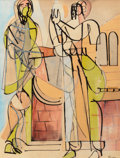 Works on Paper, Romare Howard Bearden (1911-1988). Untitled (a double-sided work). Ink and watercolor on paper. 24-1/4 x 18-1/4 inches (...