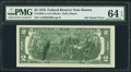 Error Notes:Ink Smears, Fr. 1935-A $2 1976 Federal Reserve Note. PMG Choice Uncirculated 64EPQ.. ...