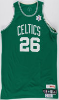 Basketball Collectibles:Uniforms, 2008 Patrick O'Bryant Game Worn Boston Celtics Christmas DayJersey....