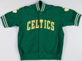 Basketball Collectibles:Uniforms, 1985-86 Sly Williams Game Worn Boston Celtics Warmup Jacket....