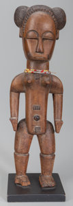 Paintings, BAULE, Ivory Coast. Standing Female Figure...
