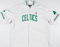 Basketball Collectibles:Uniforms, Walter McCarty Game Worn Boston Celtics Warmup Jacket....