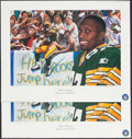 Football Collectibles:Others, Robert Brooks Signed Lithographs Lot of 2....