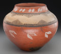 American Indian Art:Pottery, A Zia Polychrome Jar. c. 1930...