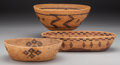 American Indian Art:Baskets, Three California Coiled Bowls. c. 1900... (Total: 3 Items)