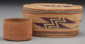 American Indian Art:Baskets, Two Northwest Coast Twined Baskets . c. 1900... (Total: 2 Items)