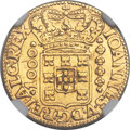Brazil, Brazil: João V gold 1000 Reis 1727-M AU Details (Removed fromJewelry) NGC,...