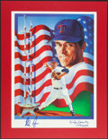 Baseball Collectibles:Others, Nolan Ryan Signed Lithograph....
