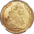 Colombia, Colombia: Charles IV gold 8 Escudos 1792 NR-JJ AU58 NGC,...