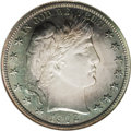 Proof Barber Half Dollars: , 1902 50C PR67 NGC. Toned with deep blue-gray at the periphery of the obverse with the center smoke-gray to silver, the reve...