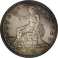 Patterns: , 1873 T$1 Trade Dollar, Judd-1322, Pollock-1465, R.4, PR64 NGC. Verysimilar to the adopted design on the obverse, but with ...