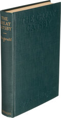 Books:Literature 1900-up, F. Scott Fitzgerald. The Great Gatsby. New York: CharlesScribner's Sons, 1925. ...