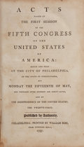 Books:Americana & American History, [United States Congress]. Acts passed at theFirst[-Third] Session of the Fifth Congress of the...