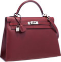 Luxury Accessories:Bags, Hermes 32cm Rouge H Calf Box Leather Sellier Kelly Bag with Palladium Hardware. D Square, 2000. Excellent Condition...