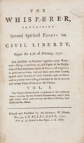 Books:World History, [William Moore]. The Whisperer, containing Several SpiritedEssays on Civil Liberty, Begun the 17th of February, 1770...