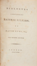 Books:Religion & Theology, David Hume. Dialogues concerning Natural Religion. The Second Edition. London: [s.n.], 1779....
