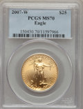 Modern Bullion Coins, 2007-W $25 Half-Ounce Gold Eagle, Burnished, 70 PCGS. PCGS Population (554). NGC Census: (2447). Numismedia Wsl. Price for...