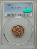 Lincoln Cents, 1941-D 1C MS67+ Red and Brown PCGS. CAC. PCGS Population: (44/0 and 3/0+). NGC Census: (34/1 and 4/0+). Mintage 128,700,00...