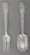 Silver & Vertu:Flatware, A Tiffany & Co. Vine Pattern Grape Motif Silver Salad Serving Set, New York, New York, designed 1872... (Total: 2 )