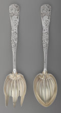 Silver Flatware, American:Tiffany, A Tiffany & Co. Vine Pattern Grape Motif PartialGilt Silver Salad Serving Set, New York, New York, ... (Total: 2 )