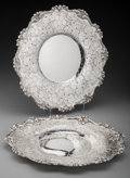 Silver Holloware, American:Trays, A Pair of American Acid-Etched Silver Serving Trays Made forTiffany & Co., first half 20th century. Marks: MADE FORTIFFA... (Total: 2 )