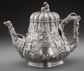Silver Holloware, American:Coin Silver, A Grosjean and Woodward Coin Silver Figural Teapot, New York, NewYork, circa 1850. Marks: W&G., PURE COIN, BOSTON,LINC...