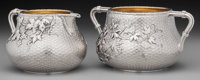 A Whiting Mfg. Co. Japanesque Partial Gilt Silver Sugar and Creamer with Trompe L'Oeil Design, New York, New York, ci