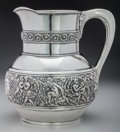 Silver Holloware, American:Water Pitchers, A Tiffany & Co. Olympian Pattern Silver Water Pitcher,New York, New York, circa 1902-1907. Marks: TIFFANY &C...