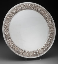 An S. Kirk and Son Silver Floral Repoussé Salver, Baltimore, Maryland, circa 1896 Marks: S. KIRK & SON, STERL...