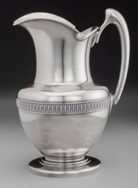 A Tiffany & Co. Silver Water Pitcher, New York, New York, circa 1870, designed by John Chandler Moore Marks: TI