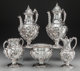A Five-Piece John Chandler Moore Coin Silver Coffee Service with Associated Coffee Pot, New York, New York, circa 1840 M...