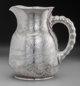 A Dominick & Haff Japanesque Acid-Etched Silver Water Pitcher, New York, New York, circa 1887 Marks: (rectangle...