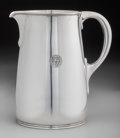 Silver Holloware, American:Water Pitchers, A Tiffany & Co. Moderne Silver Water Pitcher, New York, NewYork, circa 1912-1947. Marks: TIFFANY & CO., 18183B, MAKERS,5...
