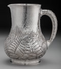 Silver Holloware, American:Pitchers, A Dominick & Haff Japanesque Silver Water Pitcher, New York,New York, circa 1881. Marks: (925 rectangle-sphere-1881 diamond...